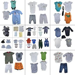 Lot 48 Baby Boys Clothing Bundle Infant Size 0-6 Months Bulk Wholesale Outfits B