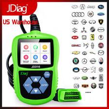 OBD2 Car Fault Code Reader Automotive Scan Tools Color Screen Mode 6 JD316 Green