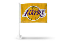 Lakers Car Flags - Gold