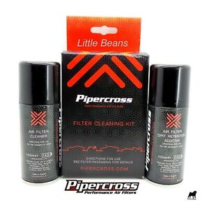 Pipercross Air Filter Cleaning Kit Cleaner Additive & Dirt Retention Oil - C9000