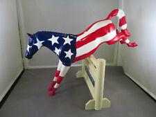 Peter Stone Patriot American Flag Jumper horse signed Rare 1999