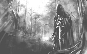 "Grim Reaper  PICTURE CANVAS WALL ART ""20X30"""