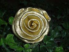 30 x schöne gr. Krepprosen gold Goldhochzeit Jubiläum Deko Hochzeit Blumen