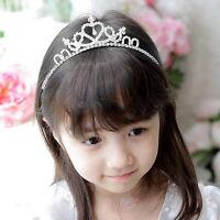 Kids Flower Girl Children Wedding Prom Tiara Crown Headband - Kid Size YO