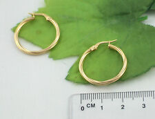 Sassi SIL1405Y Ladies 375 9ct Yellow Gold Creole Hoop Wedding Band Earrings