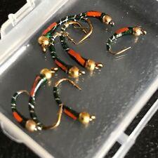pesca con mosca Verde bead-head Epoxico BUZZERS Pack 8 para trucha Talla 10-14 #