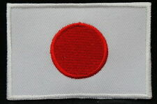 """JAPAN FLAG EMBLEM PATCH SEW ON EASY TO USE 2""""x3"""""""