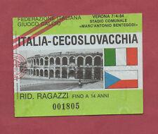 ORIG. billet de 07.04.1984 à vérone Italie-CSSR!!! très rare