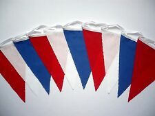 Fabric Bunting Red White Blue For All British Sporting Events 3m