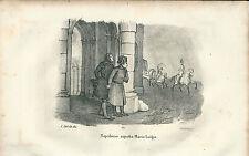 1846 NAPOLEONE ASPETTA MARIA LUIGIA litografia Napoleon