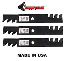 "3 CRAFTSMAN 48"" RIDING MOWER DECK GATOR BLADES 180054 173921 HUSQVARNA POULAN"