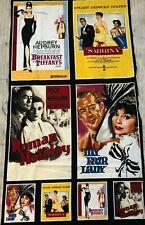 "Robert Kaufman ""Cinema Series"" fabric panel Audrey Hepburn 43"" x 23""  $15.00"