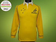 AUSTRALIA WALLABIES RUGBY UNION (XS-S-14) Long Sleeves RUGBY SHIRT Maillot Jerse