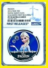 2016 Niue 1 oz Silver $2 Disney Princess ELSA NGC PF70 UC Early/1st Releases
