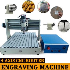 3040T USB 4 Axis CNC Router Engraver Machine 3D Cutter Drilling Carving Desktop