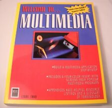 Welcome to Multimedia by Linda Tway - Vintage Computer Book + CD-ROM 1992 (CB27)