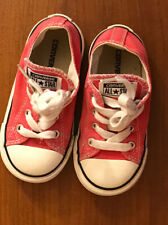 Converse all star toddler shoes Red  Size 5 Low Top Chucks