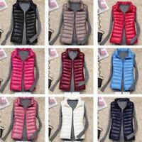 Packable Women's Light Sleeveless Jacket Winter Warm Down Waistcoat Outwear Vest