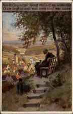 1921 Stempel DÖBELN auf AK Volkslieder Karte Paul Hey Nr. 69 Aus der Jugendzeit