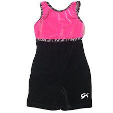 Gk Elite Gymnastics Leotard Child Medium Pink Black