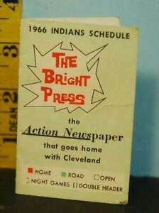 1966 Cleveland Indians Baseball Schedule - The Bright Press Action Newspaper