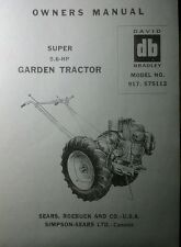 David Bradley Sears 917575112 Garden Tractor Amp Plow Owners Amp Parts 2 Manuals