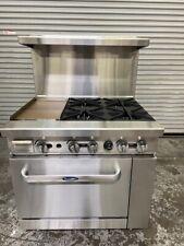 Open Box 36 Range 12 Griddle Amp 4 Burner Gas Oven Base Atosa Ato 12g4b 6145