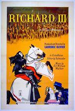 RICHARD III 1955 Laurence Olivier UK 1-SHEET POSTER