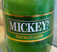 Mickey's Malt Liquor 12 oz wide-mouth Beer Bottle WITH Cap Milwaukee, WI (empty)