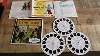 Tintin-Anciens view Master le temple du soleil,complet,livret&pochette-1949