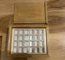 Empty Watercolor Bamboo Paint Case with 24 Pcs Half Pans