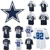 Dallas Cowboys Jerseys Authentic Prescott Elliott Lee Witten Beasley Aikman