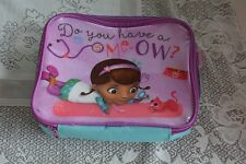 Disney Doc McStuffins Purple Blue Cat Sparkly Insulated School Lunch Box Bag