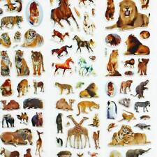 10 Sheets Wild Animals Scrapbooking Bubble Adhesive Stickers Reward Kids Toyss