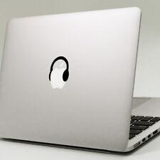 "HEADPHONES Apple MacBook Decal Sticker fits 11"" 12"" 13"" 15"" & 17"" models"