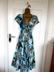 "Monaco Size UK-12 Unlined Fit &Flare Dress Multicolored  BUST 36"""