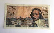 Billet 1000 Francs Richelieu 1954
