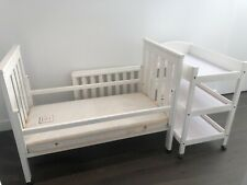 Boori kingparrot cot / toddler bed, change table   free extras incl mattress