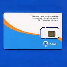 NEW UNACTIVATED 3 in 1 AT&T GoPhone SIM card - no contract pay as you go