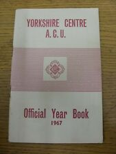 1967 Auto Cycle Union: Yorkshire Centre ACU - Official Year Book. Footy Progs/Bo