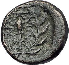 SARDES in LYDIA 133BC Apollo Club Wreath Authentic Ancient Greek Coin i61215
