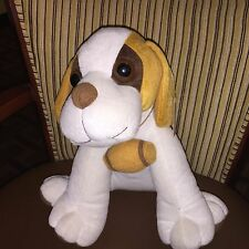 "Fiesta New Plush Saint St. Bernard Dog 11"" tall with barrel on neck"