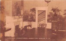 Wheeling West Virginia Oglebay Park Dining Room In Mansion Museum Postcard