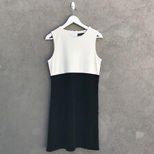 Banana Republic Ivory/White & Black Color Block Cocktail Dress Medium