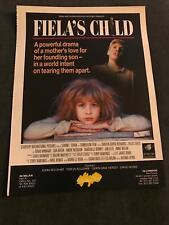 1989 VINTAGE 10X13 MOVIE PRINT TRADE POSTER Ad FOR FIELA'S CHILD STARCORP