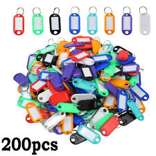 200 Pcs Keychain Key Ring ID Sports Tags Name Card Label Luggage