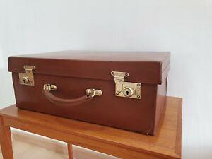 Antique / vintage Drew & Sons leather suitcase