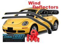 Wind deflectors VW NEW BEETLE 1997 - 2010  3.doors  2 pc set  HEKO  31104