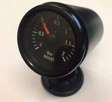 52mm Black face Waterproof Car Boost Gauge -1 to 2 BAR and mounting pod