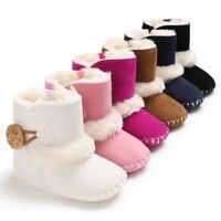 0-18M nouveau-né infantile bébé filles bottes neige hiver chaud peluche bottines